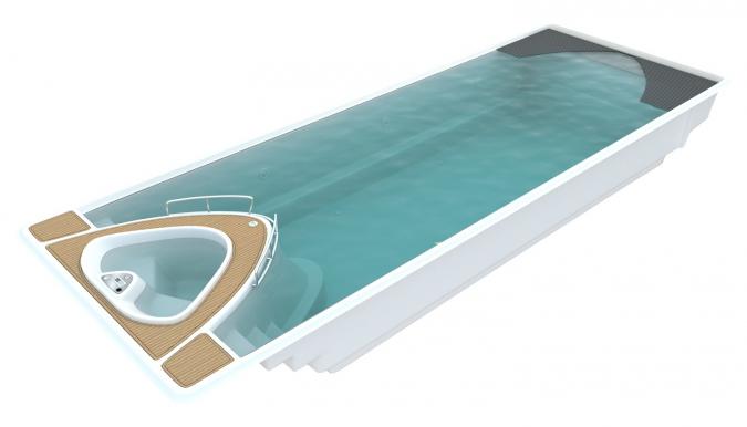Bazén Yacht Pool 3D